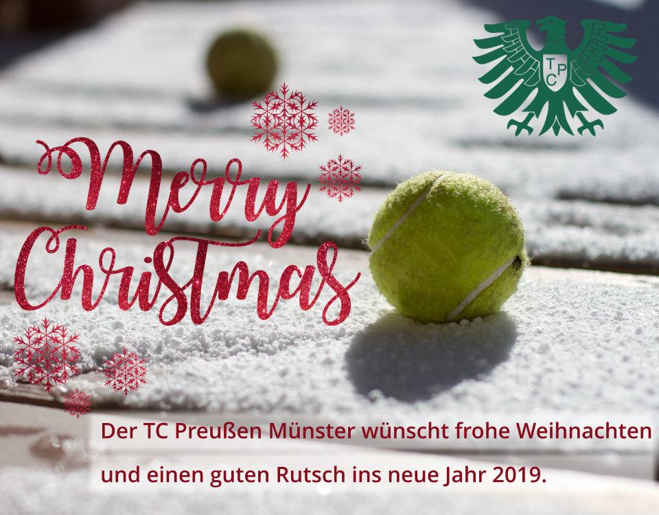 Frohe Weihnachten Guten Rutsch Ins Neue Jahr.Der Tc Preußen Münster Wünscht Frohe Weihnachten Und Einen Guten